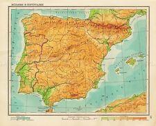 Carte Soviétique 1941 École ATLAS IBERIA ESPAGNE PORTUGAL replica Poster Print pam1446