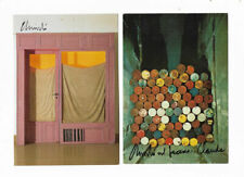 Christo 2 X Art Card each hand signed store front and oil barrels