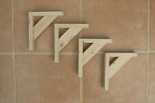 """Wooden Shelf Brackets x 4 (Ideal for 6.5"""" - 7.5"""" Shelves)"""