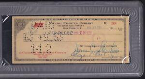 1953 HORACE STONEHAM Giants Baseball Signed Bank Check (PSA SLABBED) George Mack