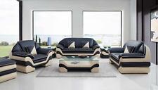 Leder Couch Polster Sofagarnitur 3+2+1 Komplett Set Leder Sofas Couchen Neu