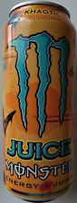 NEW JUICE MONSTER KHAOTIC ENERGY + JUICE DRINK 16 FL OZ FULL CAN FREE SHIPPING