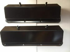 Black 351c V8 Fabricated Black Alloy Valve Covers 351c