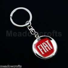 Fiat Key Ring NEW with Box - UK Seller - Red - 500 Panda Punto