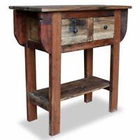 "vidaXL Console Table Solid Reclaimed Wood 31.5"" Sideboard Wooden Side Desk"