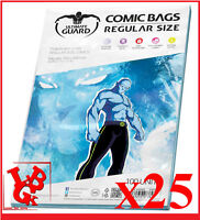 Pochettes Protection REGULAR Size comics VO x 25 Marvel Ultimate Guard # NEUF #