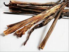 NATURAL 50cm LONG DOG SNACKS! Dried HARD DEER VENISON SKIN - treats chews snack
