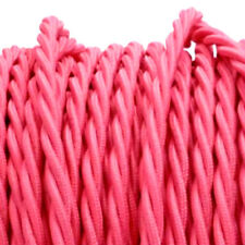 PINK TWIST vintage style textile fabric electrical cord cloth cool cable 1m