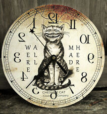 "Vintage Cheshire Cat Clock. ""We're all mad here.""  Alice in Wonderland Decor"