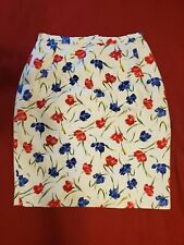 Pendleton 100% Cotton Floral Pencil Skirt USA made festival pencil wiggle