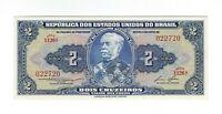 2 Cruzeiros Brasilien 1958 UNC C016 / P.151b - Brazil Banknote