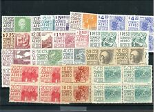 1377 MEXICO Collection 51 Dif. Blocks MNH Architecture and Archeology 1950-1975