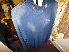 Firetrap Original Men's Designer Blue Denim Hoodie Size M Rare!!!!