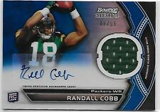 2011 Bowman Sterling Randall Cobb RC Auto/Jersey Blue Refractor/99