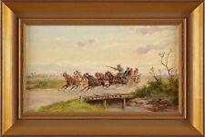 Bild Gemälde Öl/Lwd. Steinacker, Alfred -  Ungarische Pferdegespanne