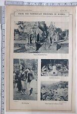 1916 Inde Imprimé Burma Kaungmalong Pagoda Repasser Fonderie Nungs