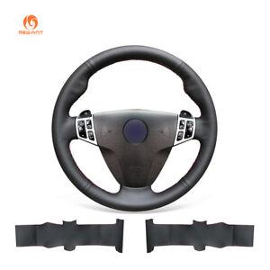 DIY Black Leather Car Steering Wheel Cover for Saab 9-3 2006-2011/ 9-5 2006-2009