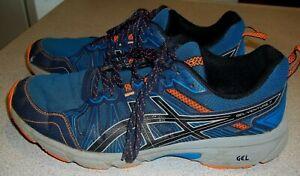 ASICS Men's GEL-Venture 7 Running Shoes Size 11.5 Blue/Orange 1011A560