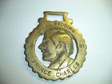 ROYAL WEDDING Prince Charles  1981   Brass Medallion horse