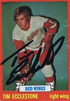 Tim Ecclestone 1973 Topps Autograph #124 Red Wings