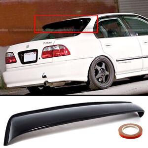 For 96-98 Honda Civic 4DR Black Tinted Rear Window Roof Vent Visor Spoiler Wing