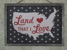 New Room & Retreat Rustic Land that I Love Usa America Patriotic Wall Art Plaque