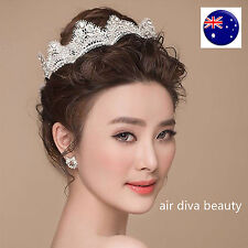 Women Flower Girl Wedding Bride Crystal Crown Tiara Party Hair Headband Prop
