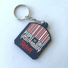 Black Barcode Slipknot Rubber Keychain Rock Music Memorabilia Gift Collectible