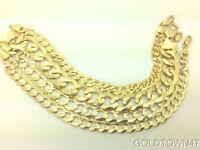 "2.6MM- 11.5MM 14K Solid Yellow Gold Cuban Link Women/ Men's Chain 16""-30"""