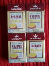 Dominion Sugar Free Sweets. Rhubarb And Custard Flavour, 44g Sealed. X 4 Boxes