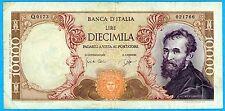 Italia Repubblica, lire 10.000, Michelangelo – 27.07.1964 - Rara