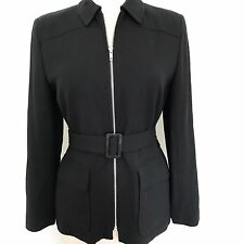 Ann Taylor Loft Women's Blazer Size 4 Black Long sleeves Career Casual EUC