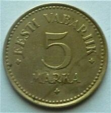 1924 ESTONIA - 5 MARKA - VERY HIGH GRADE - KM# 3a - RARE