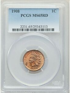1908 Indian Head Cent PCGS MS65RD  💰  GREAT COIN - GREAT PRICE