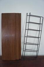 60er Bookcase Vintage String Shelf Walnut Wall Shelf Danish Shelf System 2