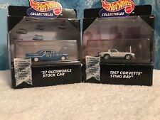 Hot Wheels 57 Oldsmobile Richard Petty #43 Stock Car & 67 Corvette Sting Ray