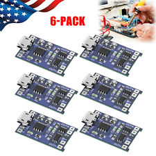 6x Micro Usb Tp4056 Buck Converter w/ 5V 1A Lithium Battery Charger Module Board