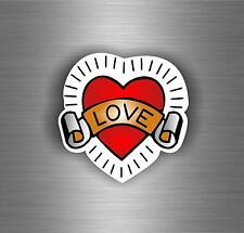 Sticker adesivo adesivi auto tuning auto moto i love tattoo tribale r1
