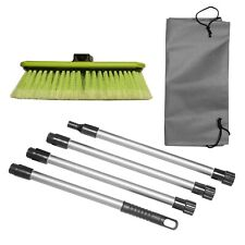 "Soft Bristle Car Wash Brush 10"" Dip Brush with Side Protector, 65"" Handle & Bag"