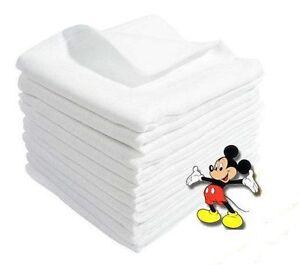 SALE! LARGE Baby Muslin White Squares 80/70cm 100% Cotton 1pcs, set 4, 8, 12 pcs