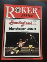 1980/81 Sunderland v Manchester United Match played 17/1/81