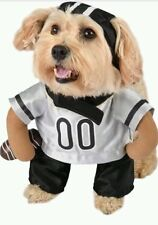 NEW Halloween Silver BLACK Football Player costume clothes headpiece Dog Small S