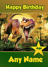 PERSONALISED DINOSAUR ANIMAL BIRTHDAY CARD IDEAL FOR SON GRANDSON NEPHEW ANY