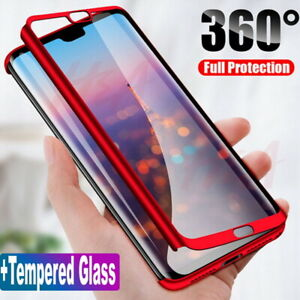 For Samsung Galaxy A72 A52 A32 5G S21 Full Protective Hard Case + Tempered Glass