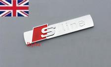 Audi Chrome Matt Badge Rear Boot Emblem S-Line Sline A 1 2 3 4 5 6 8 Q RS NEW