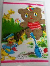 Vintage Childrens Childs Hanky Hankie - Jeou Frey Paris Teddy Bear Duck
