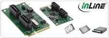 InLine Mini-PCI-Express Card, 2x SATA 6 gb/s (SATA 3), RAID 0,1,SPAN
