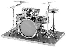 Drums Set: Metal Earth 3D Laser Cut Instrument Miniature Model Kit 2 sheets