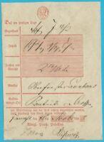Postscheine Preußen Postschein handschr. FRANKFURT vom 20.11.1846!
