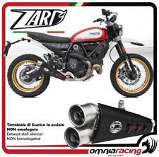 Zard exhaust  silencer NOT homologated Ducati Scrambler 800 Desert Sled 2017>